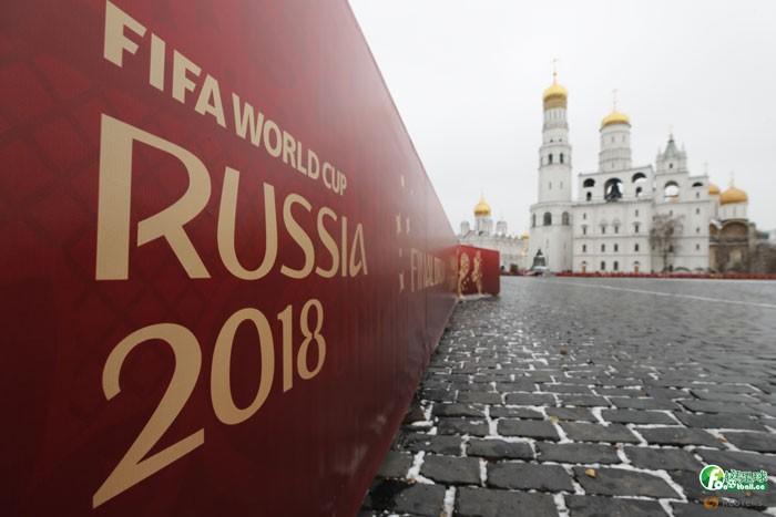 2018世界盃抽籤圍牆海報