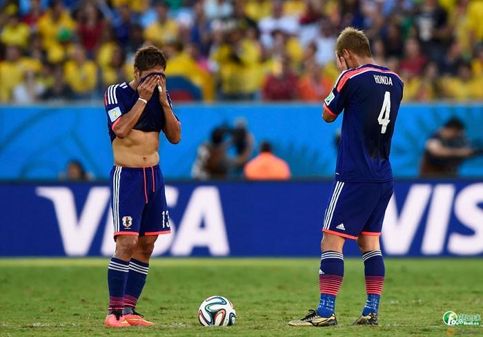 日本隊輸給哥倫比亞